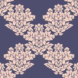 Damask seamless pattern intricate design. Luxury royal ornament, victorian texture for wallpapers, textile, wrapping. Exquisite fl stock image