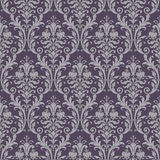 Damask seamless pattern in purple and gray Stock Images