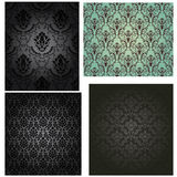 Damask seamless pattern set Stock Image