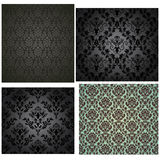 Damask seamless pattern set Stock Photos