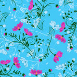 Damask seamless pattern set Royalty Free Stock Photo