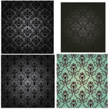 Damask seamless pattern set Stock Photography