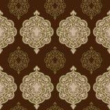 Damask seamless pattern. Vintage background vector illustration