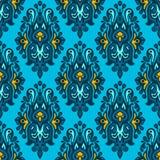 Damask Seamless Patterngift Wrap Stock Photography