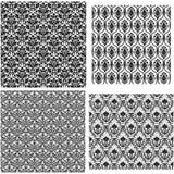 4 Damask Seamless Patterns Stock Image