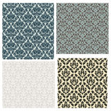 4 Damask Seamless Patterns Stock Images