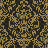 Damask seamless patterns wallpapers. Seamless floral pattern for design, vector Illustration royalty free illustration