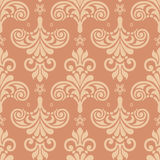 Damask seamless silk. Damask seamless pattern for design. Vector Illustration stock illustration