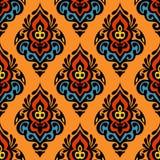 Damask seamless vector design Stock Image
