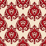 Damask seamless vector design Royalty Free Stock Images