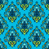 Damask Seamless Vector Floral Stock Photography