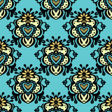 Damask seamless vector Royalty Free Stock Photography