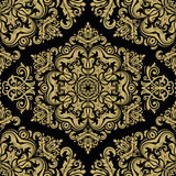 Damask Seamless Vector Golden Pattern Royalty Free Stock Photography