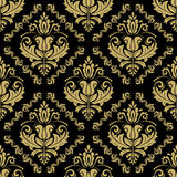 Damask Seamless Vector Golden Pattern Royalty Free Stock Photo