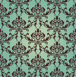 Damask seamless. Vector pattern.  For easy making seamless pattern just drag all group into swatches bar, and use it for filling any contours Royalty Free Stock Images