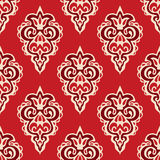 Damask seamless vector pattern florish Royalty Free Stock Image