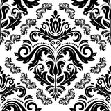 Damask Seamless Vector Pattern. Orient Background. Damask vector floral pattern with arabesque and oriental elements. Seamless abstract tradiional ornament for Stock Photo