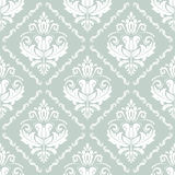 Damask Seamless Vector Pattern. Orient Background. Damask vector floral pattern with arabesque and oriental elements. Seamless abstract wallpaper and background Royalty Free Stock Images