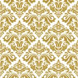 Damask Seamless Vector Pattern. Orient Background Royalty Free Stock Photo