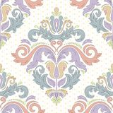 Damask Seamless Vector Pattern. Orient Background Stock Photography