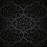 Damask Seamless Vector Pattern. Orient Dark Stock Photos