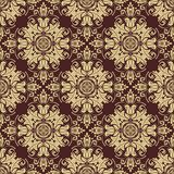 Damask Seamless Vector Pattern. Orient Golden Stock Photography