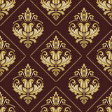 Damask Seamless Vector Pattern Stock Images
