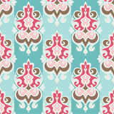Damask seamless vector wallpaper Stock Images
