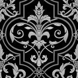 Damask seamless wallpaper Stock Images