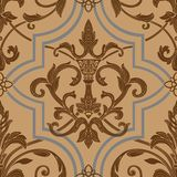 Damask seamless wallpaper. (can be repeated and scaled in any size Royalty Free Stock Photo