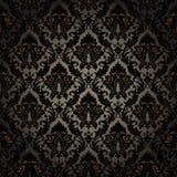 Damask seamless wallpaper. Seamless wallpaper background. Vector illustration Stock Photos
