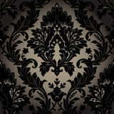 Damask seamless wallpaper Stock Photos