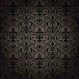 Damask seamless wallpaper Stock Image