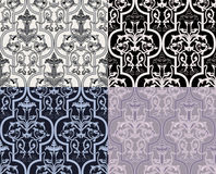 Damask seamless wallpaper Stock Photo