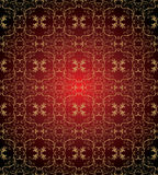 Damask seamless wallpaper. In red and gold palette vector illustration