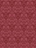 Damask seamless wallpaper. In red palette stock illustration