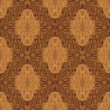 Damask seamless wallpaper - beige and brown design. On a picture Damask seamless wallpaper is presented. Beige and brown design Stock Photo