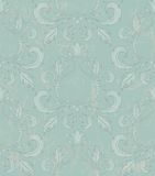Damask seamless wallpaper with grunge effect. Royalty Free Stock Image