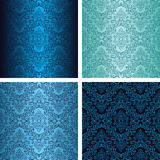 Damask seamless wallpapers in four variants - shad Royalty Free Stock Photography
