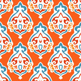 Damask seamlessvector abstract design Stock Photography