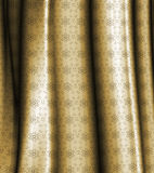 Damask style curtain Stock Photos