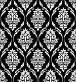 Damask-style design of floral arabesques Stock Images
