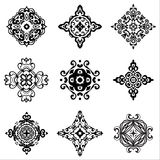 Damask tiles  vintage vector collection Stock Image