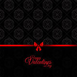 Damask Valentines Day background vector illustration
