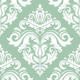 Damask Vector Classic Pattern. Seamless Vintage Background Stock Photography
