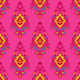 Damask vector festive floral seamless pattern. Damask vector festive pink abstract seamless pattern Royalty Free Stock Images