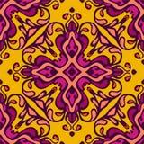 Damask vector festive yellow seamless pattern Royalty Free Stock Photography