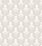 Damask vector floral wallpaper Royalty Free Stock Photography