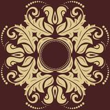 Damask Vector Pattern. Orient Golden Ornament Stock Images