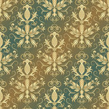 Damask vector pattern. Seamless vintage wallpaper or background. Damask seamless pattern for design. Vector Illustration vector illustration